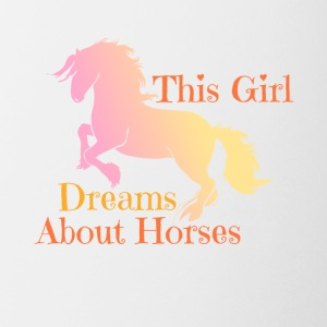 This Girl Dreams About Horses - Horse Riding - Coffee/Tea Mug