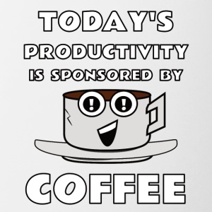 todays productivity is sponsored by coffee - Coffee/Tea Mug