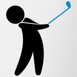 A Golfer Swings His Golf Club - Coffee/Tea Mug