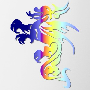 Rainbow Tribal Dragon - Coffee/Tea Mug