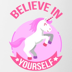 Unicorn Believe In Yourself Gift Shirt Pre - Coffee/Tea Mug