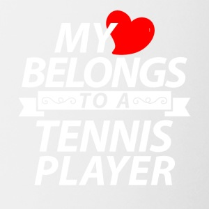 My heart belongs to a Tennis player - Coffee/Tea Mug