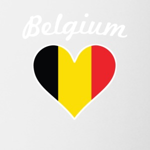 Belgium Flag Heart - Coffee/Tea Mug