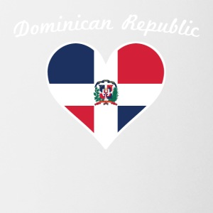 Dominican Republic Flag Heart - Coffee/Tea Mug
