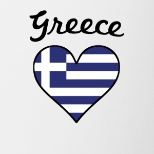 Greece Flag Heart - Coffee/Tea Mug