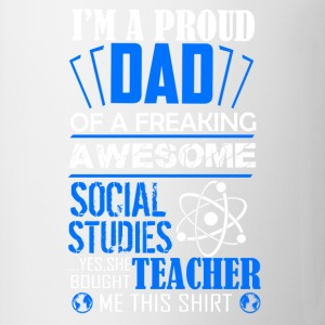 Social Studies Teacher Dad Shirt - Coffee/Tea Mug