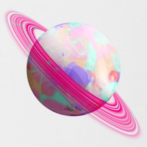 Pink ringed planet - Coffee/Tea Mug