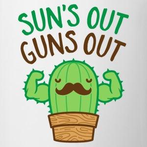 Sun's Out Guns Out Macho Cactus - Coffee/Tea Mug