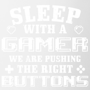 Funny Gamer Gaming Shirt Sleep With me - Coffee/Tea Mug