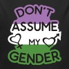Dont Assume My Gender Flag Gengenderqueer - Organic Long Sleeve Baby Bodysuit