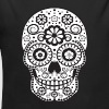 Smiling Sugar Skull - Organic Long Sleeve Baby Bodysuit