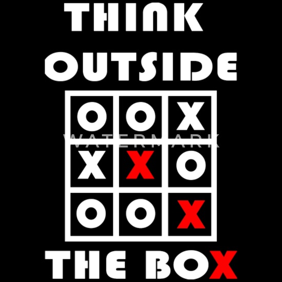 Think Outside The Box Tic Tac Toe Geschenk Organic Long
