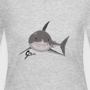 Great White Shark - Swaggy Shark - Women's Long Sleeve Jersey T-Shirt