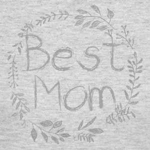 Best Mom Chalk Vine - Women's Long Sleeve Jersey T-Shirt