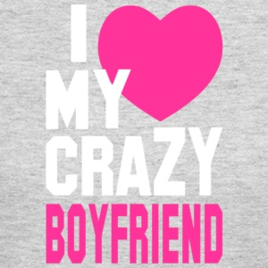 I Love My Crazy Boyfriend T Shirt - Women's Long Sleeve Jersey T-Shirt