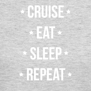 Cruise Eat Sleep Repeat Vacation Traveling - Women's Long Sleeve Jersey T-Shirt