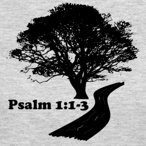 Psalm 1:1-3 for bright fabric - Women's Long Sleeve Jersey T-Shirt