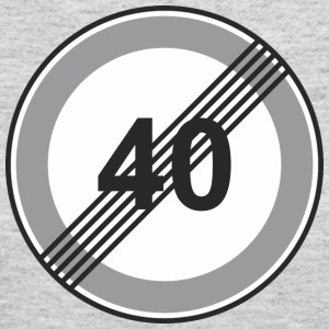 Road_Sign_40_restriction - Women's Long Sleeve Jersey T-Shirt