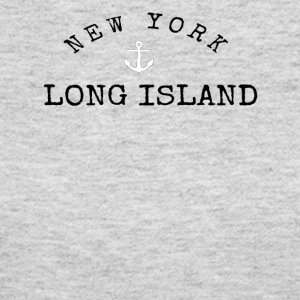 Long Island, New York Anchor - Women's Long Sleeve Jersey T-Shirt