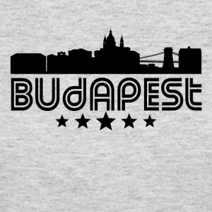 Retro Budapest Skyline - Women's Long Sleeve Jersey T-Shirt