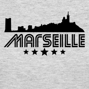 Retro Marseille Skyline - Women's Long Sleeve Jersey T-Shirt