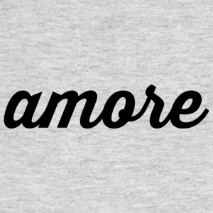 Amore - Cursive Design (Black Letters) - Women's Long Sleeve Jersey T-Shirt