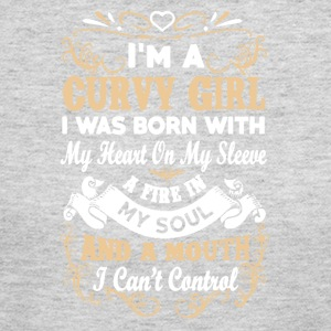 I'M A CURVY GIRL SHIRT - Women's Long Sleeve Jersey T-Shirt