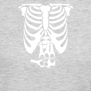 Beer Belly Xray Skeleton Funny - Women's Long Sleeve Jersey T-Shirt