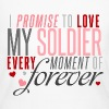 I Promise to Love my Soldier every Moment of Forev - Women's Long Sleeve Jersey T-Shirt