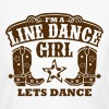 I'M A LINE DANCE GIRL - Women's Long Sleeve Jersey T-Shirt