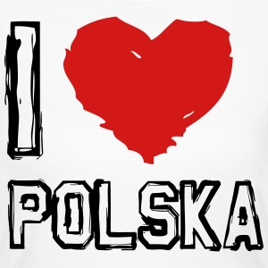 I LOVE POLSKA - Women's Long Sleeve Jersey T-Shirt