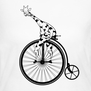 GIRAFFE PENNY FARTHING AMAZON - Women's Long Sleeve Jersey T-Shirt