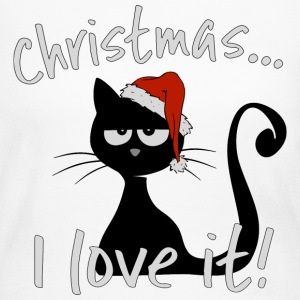 grumpy christmas cat ironic ugly sweater cats gift - Women's Long Sleeve Jersey T-Shirt
