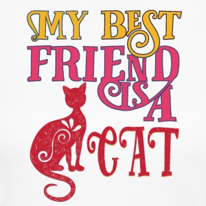 colored cats designs My best friend is a CAT - Women's Long Sleeve Jersey T-Shirt
