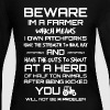 Beware Im A Farmer - Women's Long Sleeve Jersey T-Shirt