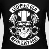Crippled Old Biker Bastards - Women's Long Sleeve Jersey T-Shirt