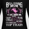 Bull Riding Mom Shirt - Women's Long Sleeve Jersey T-Shirt