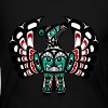 Northwest Pacific coast Haida art Thunderbird - Women's Long Sleeve Jersey T-Shirt