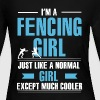 Fencing Girl Shirt - Women's Long Sleeve Jersey T-Shirt