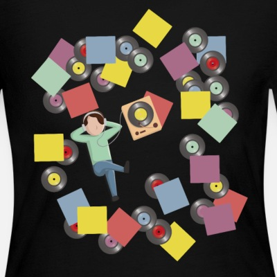 Records Vinyl Record Player - Women's Jersey Longsleeve Shirt