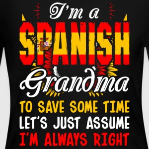 Im A Spanish Grandma - Women's Long Sleeve Jersey T-Shirt