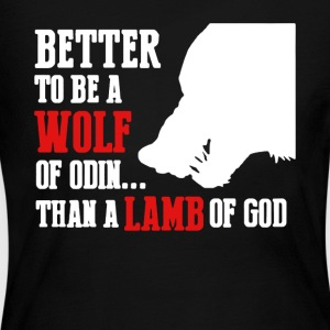 Wolf Of Odin T Shirt - Women's Long Sleeve Jersey T-Shirt