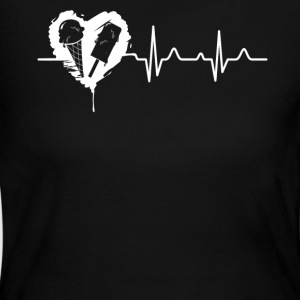 Ice Cream Heartbeat Shirt - Women's Long Sleeve Jersey T-Shirt