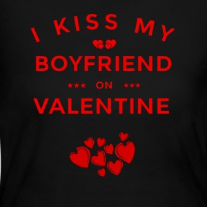 I KISS MY BOYFRIEND ON VALENTINE - Women's Long Sleeve Jersey T-Shirt