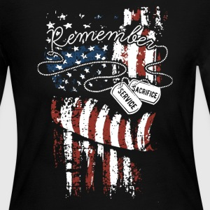 Veterans Day Remember Shirt - Women's Long Sleeve Jersey T-Shirt