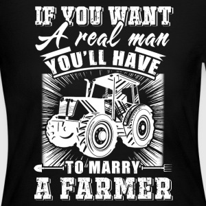 To marry a Farmer T Shirts - Women's Long Sleeve Jersey T-Shirt