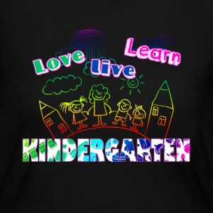 LOVE LEARN LIVE KINDERGARTEN TEACHER SHIRT - Women's Long Sleeve Jersey T-Shirt