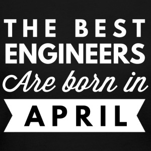 The best Engineers are born in April - Women's Long Sleeve Jersey T-Shirt