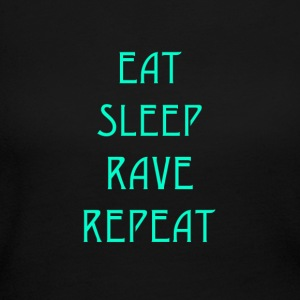 Eat Sleep Rave Repeat - Women's Long Sleeve Jersey T-Shirt