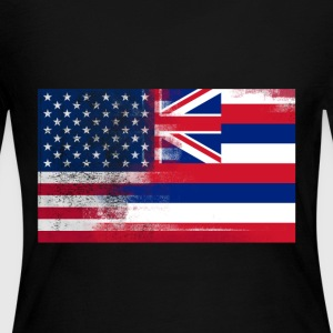 Hawaii American Flag Fusion - Women's Long Sleeve Jersey T-Shirt
